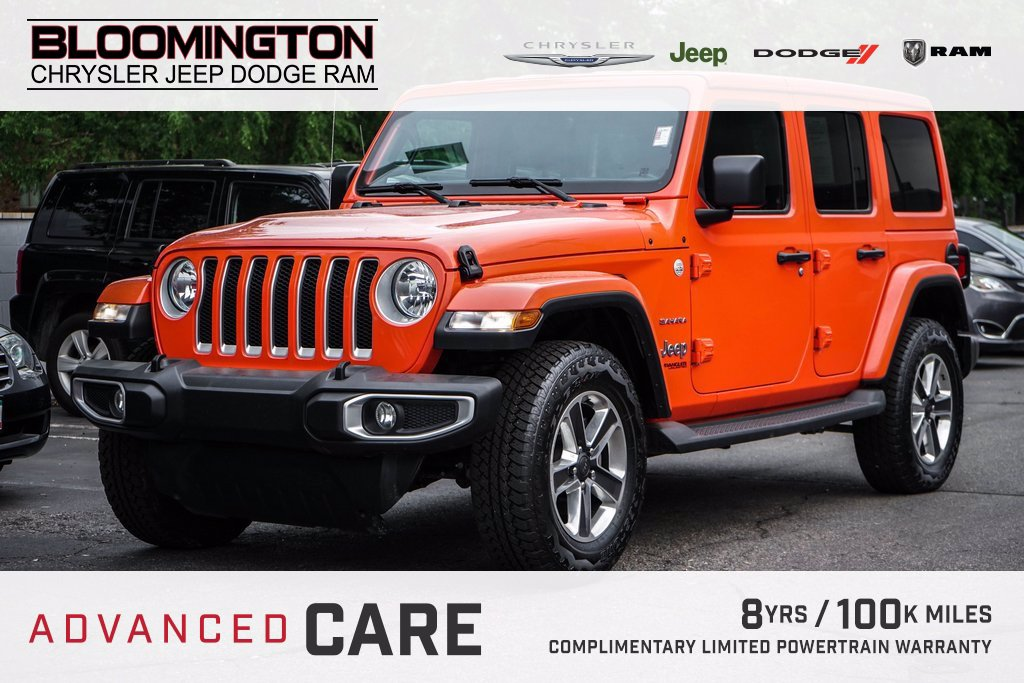 Pre-Owned 2019 Jeep Wrangler Unlimited SAHARA HTLTHR NAV