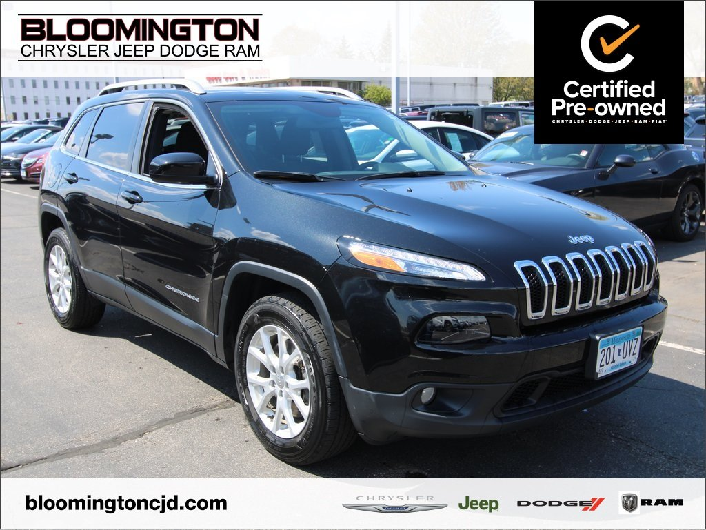 Certified Pre Owned 2016 Jeep Cherokee Laude 4x4 Cold Weather Tow 8 4 Uconnect