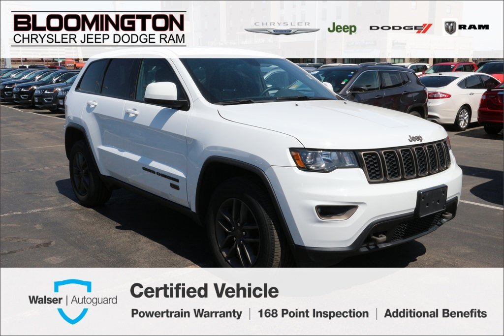 Certified Pre Owned 2016 Jeep Grand Cherokee 75th Anniversary 4x4 Heated Seats Sunroof