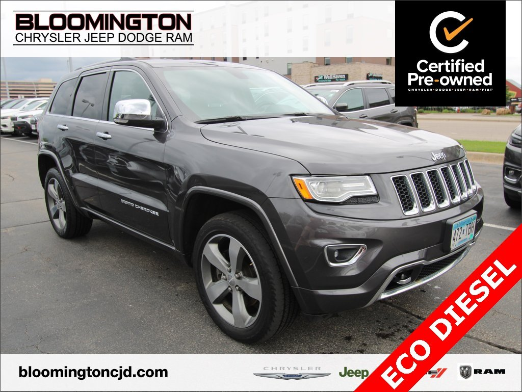 CERTIFIED PRE-OWNED 2015 JEEP GRAND CHEROKEE OVERLAND 4X4 ECODIESEL  NAVIGATION 4WD