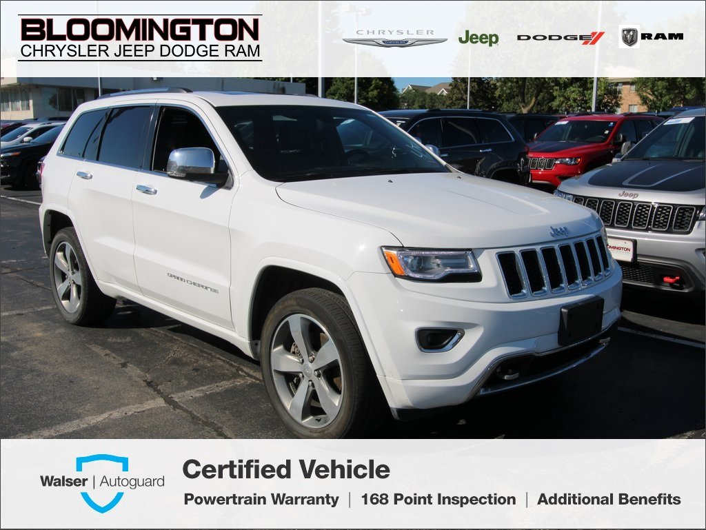 Pre-Owned 2016 Jeep Grand Cherokee CERTIFIED Overland 4x4 V8 Nav Tow Blind Spot