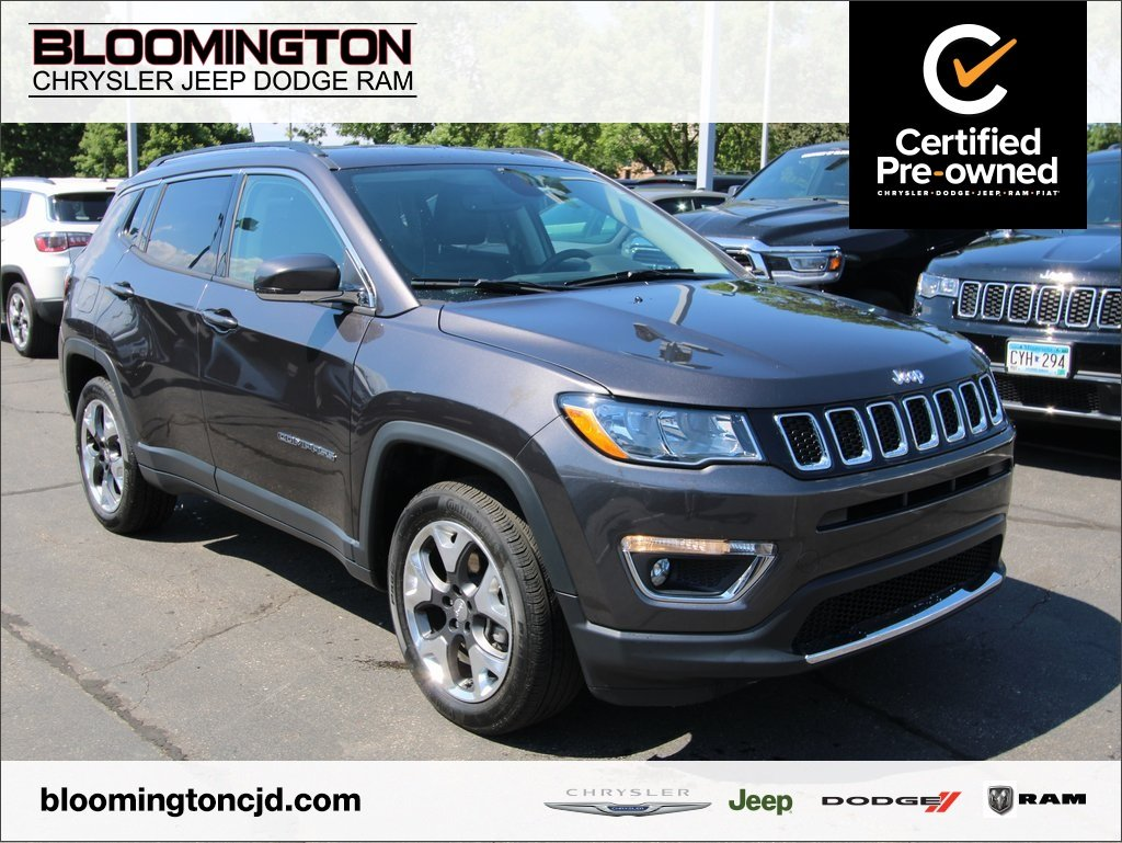 Certified Pre-Owned 2019 Jeep Compass CERTIFIED Limited 4x4 Heated Leather