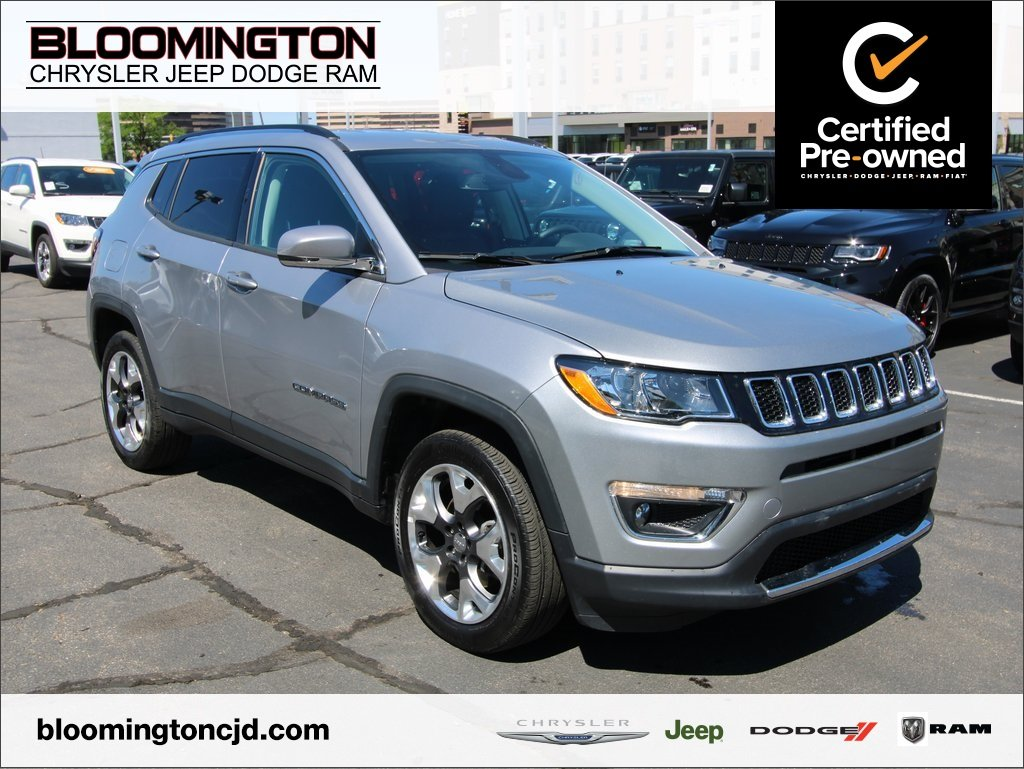 Certified Pre-Owned 2019 Jeep Compass CERTIFIED Limited 4x4 Navigation Heated Leather