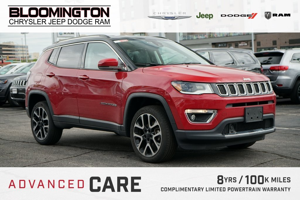 Pre-Owned 2018 Jeep Compass LTD NAV HTLTHR S/S