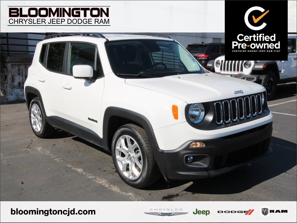 Certified Pre-Owned 2017 Jeep Renegade CERTIFIED Latitude FWD Cold Weather Grp Auto