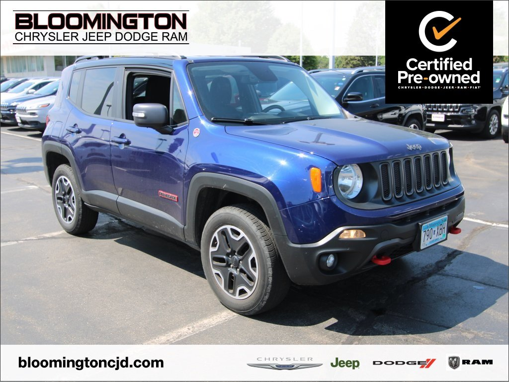 Jeep Certified Pre Owned >> Certified Pre Owned 2016 Jeep Renegade Trailhawk 4x4 Nav Cold Weather Grp With Navigation 4wd