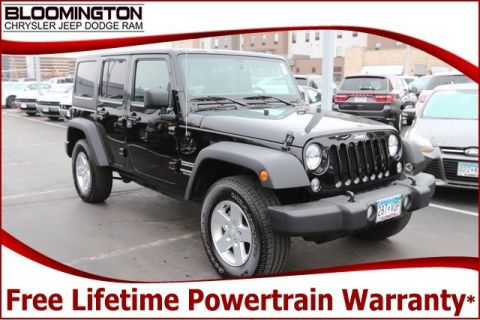 Pre-Owned 2016 Jeep Wrangler Unlimited Unlimited Sport 4x4 Tow Automatic