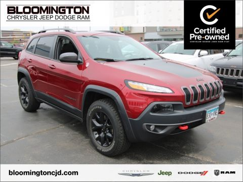 Certified Pre-Owned 2016 Jeep Cherokee Trailhawk 4x4 V6 Nav Sunroof Tow