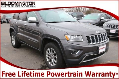 Pre-Owned 2015 Jeep Grand Cherokee Limited 4x4 Navigation Sunroof Heated Leather