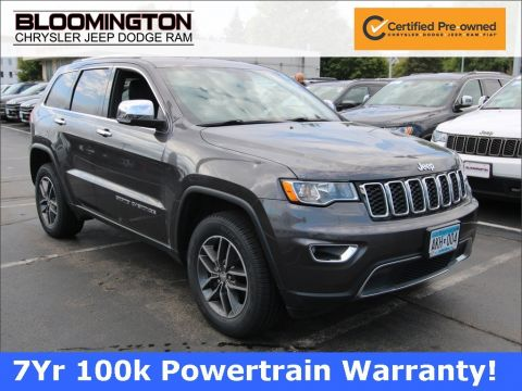 Certified Pre-Owned 2017 Jeep Grand Cherokee JEEP GRAND CHEROKEE LIMITED 4X4